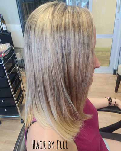 blonde girl with highlights